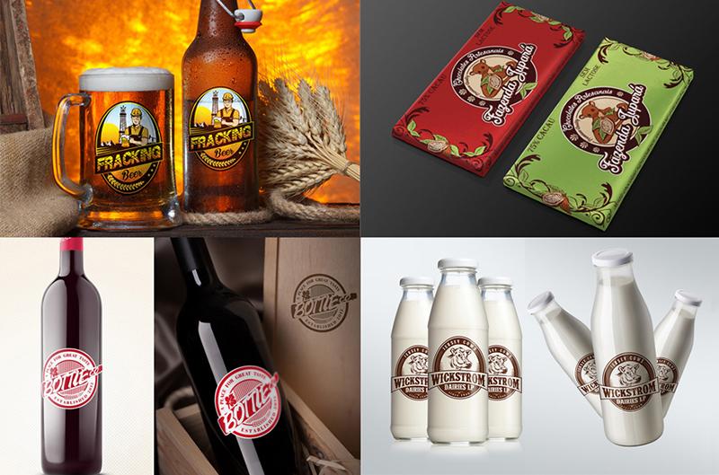 Dizajn ambalaže (flaše, kutije) za firme